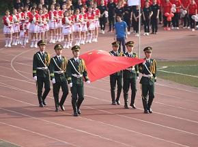 第三届运动会国旗护卫队