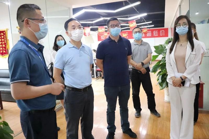 武汉市委组织部副部长孙志军一行莅临武汉分公司调研指导!